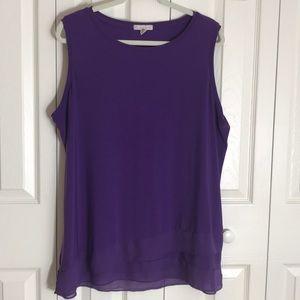 Dress Barn purple sleeveless tunic SZ 2X